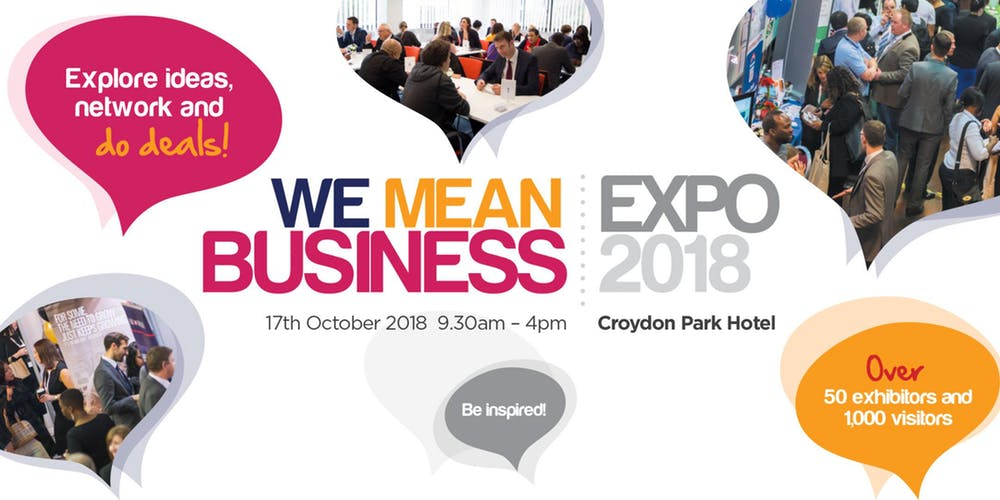 image of the we mean business expo logo
